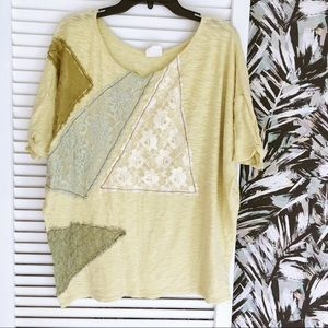 Rare Free People Oversized Off the Shoulder Top